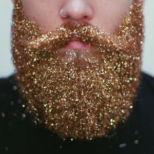 glitter beard trend for men, China cosmetic glitter powder