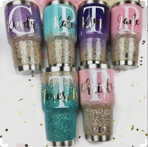 DIY glitter powder for tumblers