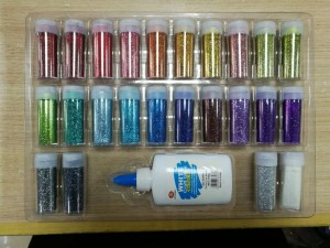 Glitter shaker with glue set china supplier